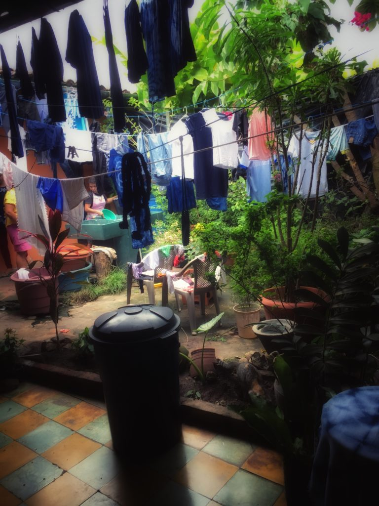 Learning how indigo is made and used in Suchitoto, El Salvador. Photo credit: Lori Tripoli.